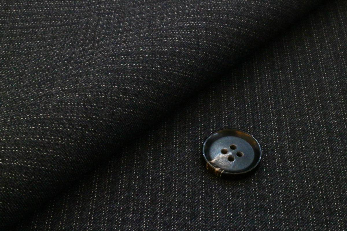 [オーダーレディーススーツ スカートセット]ダブルチョークストライプが英国調を演出