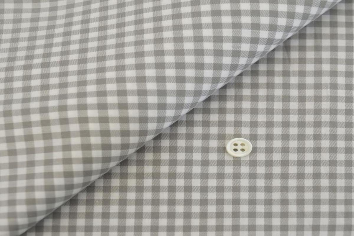 [オーダーシャツ]スーピマコットンを使ったギンガムチェック柄