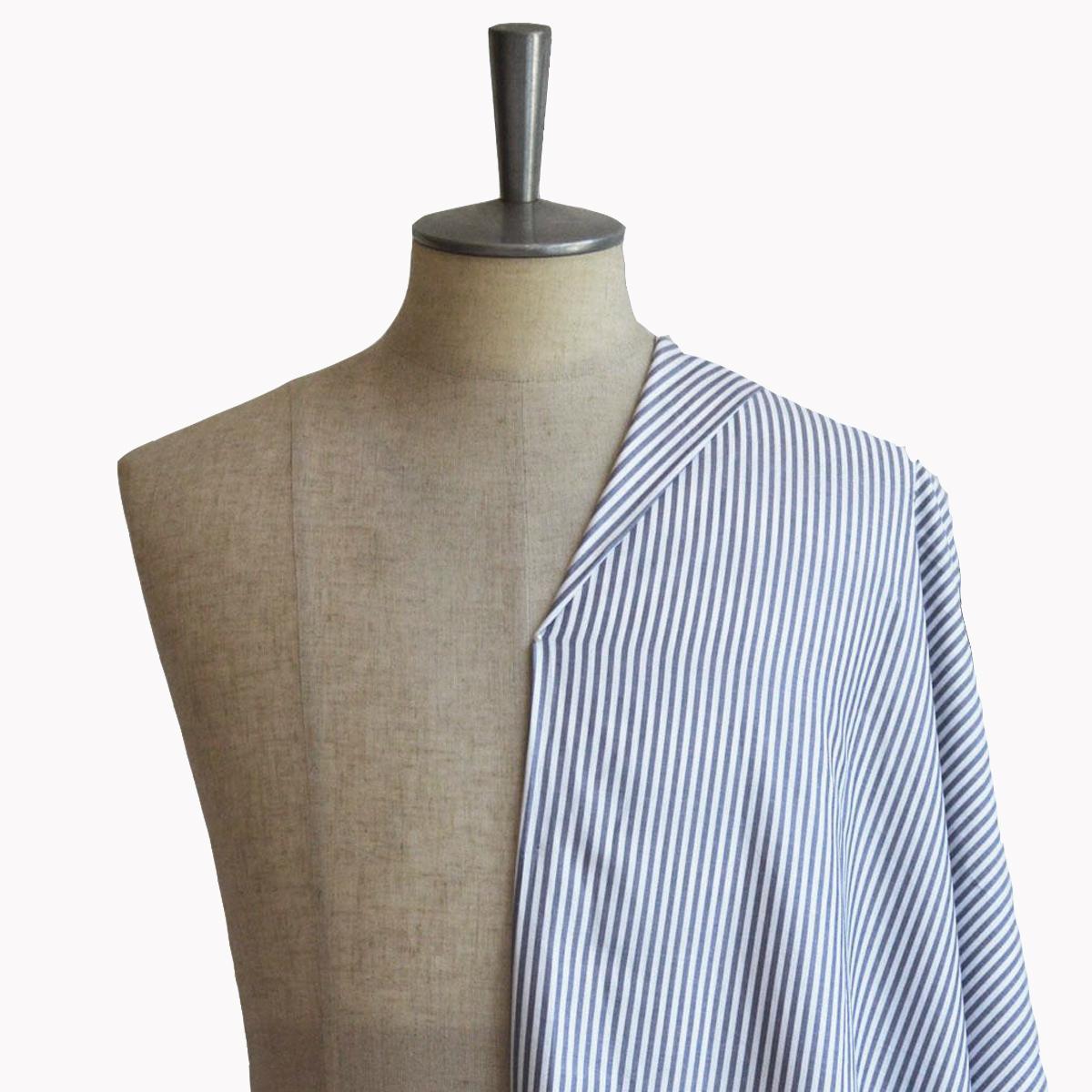 [オーダーシャツ]【Stretch】ストライプ柄が知的な印象、肌ざわり抜群シャツ!