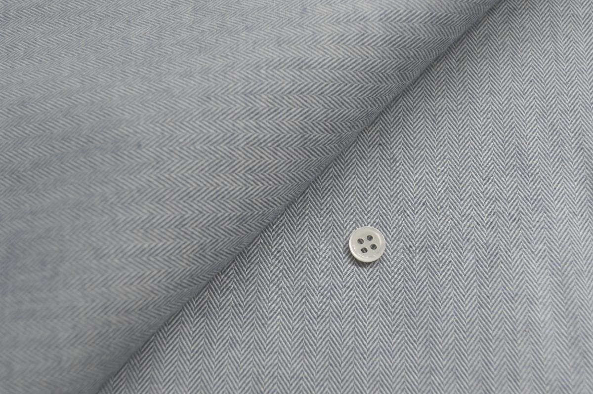[オーダーシャツ]スーピマコットンを使ったヘリンボーン柄で洗練された雰囲気を。