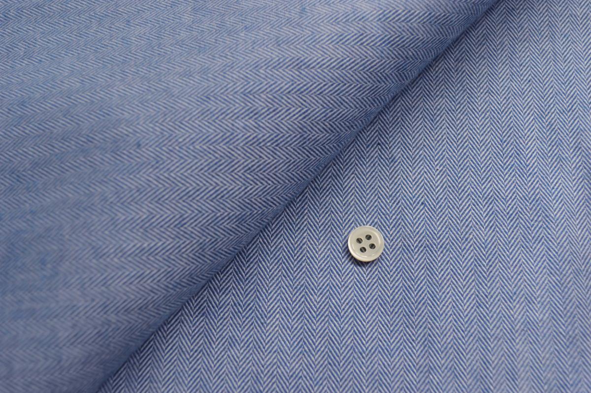 [オーダーシャツ]スーピマコットンを使ったヘリンボーン柄