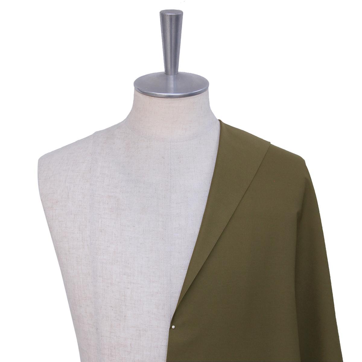 [オーダーレディーススーツ スカートセット]【キャバスストレッチ】 ストレッチ✕光沢感をもったコットン生地