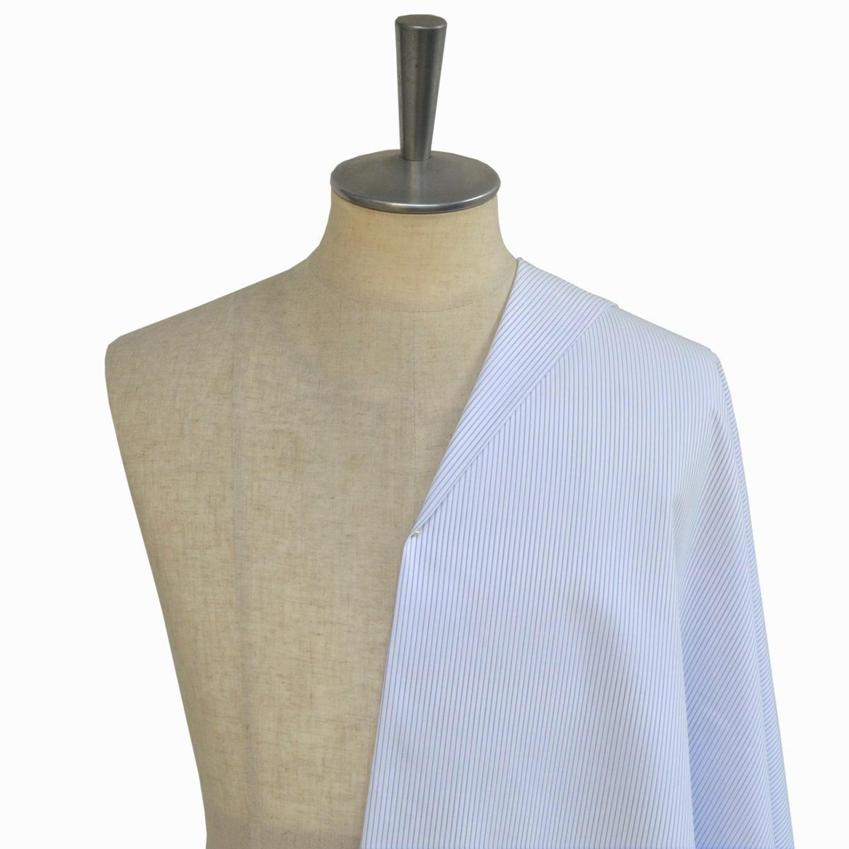 [オーダーシャツ]【イージーケア】上質綿100%にイージーケア加工でアイロンがけが楽々!