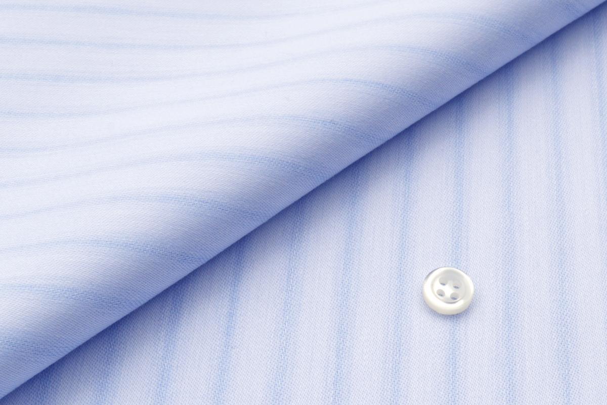 [オーダーシャツ]【形態安定】ビジネスシーンに映える!爽やかな印象ブルーシャツ