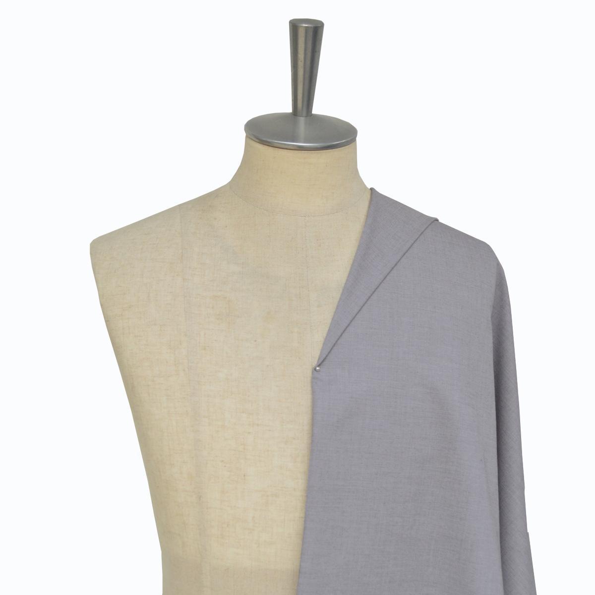 [オーダーシャツ]【形態安定】ライトグレーシャツでお洒落の幅が広がる。