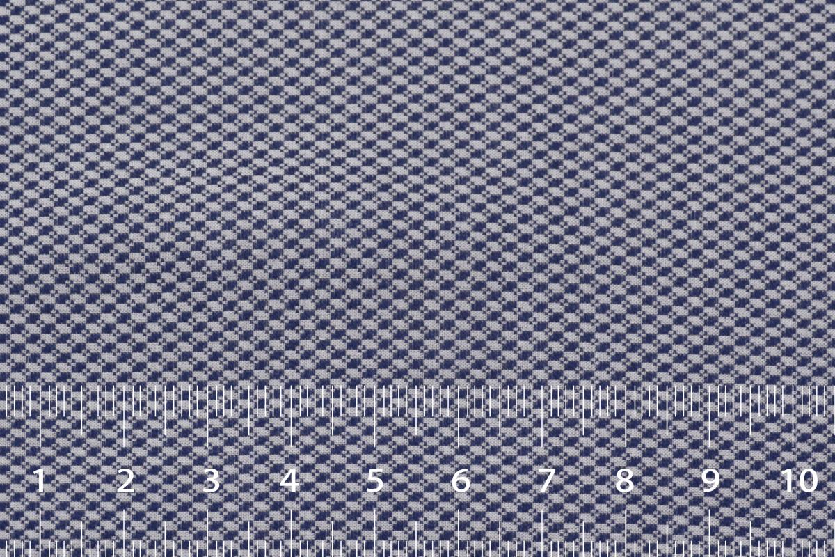 [オーダーシャツ]【形態安定】青×白のチェック柄で落ち着いた雰囲気
