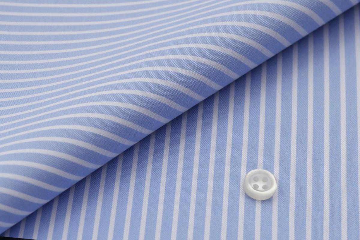 [オーダーシャツ]爽やかさが魅力のブルーストライプシャツ