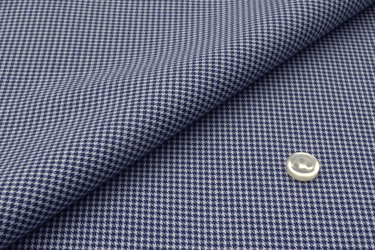 [オーダーシャツ]【青×白の千鳥柄】ビジネスでもオフでも使え万能!