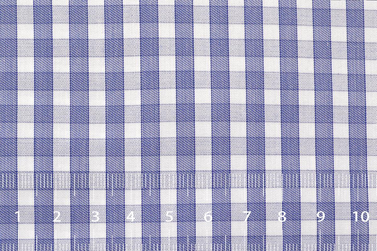[オーダーシャツ]【形態安定】ブルーチェックで爽やかさをプラス!