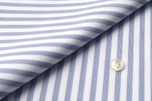 [オーダーシャツ]爽やかな印象のブルーストライプシャツ!