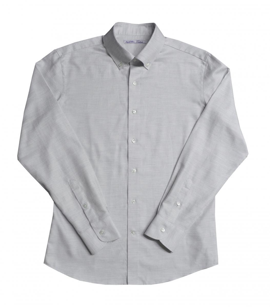 [オーダーシャツ]上品な印象が引き立つライトグレーシャツ!