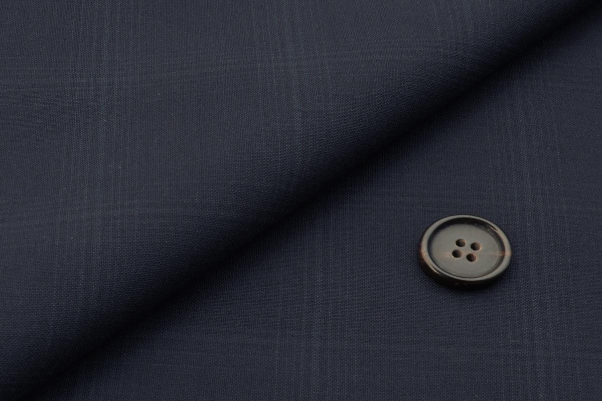 [オーダーレディースジャケット]【ネイビー×チェック柄】透け感のある素材で夏もクールに!