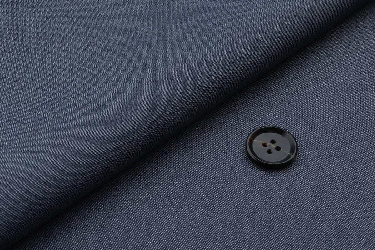 [オーダーレディーススーツ スカートセット]人気のデニム風チノでネイビーストレッチ素材