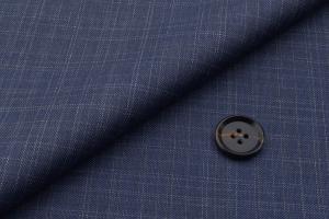 [オーダースーツ]知的な印象のブルー×チェック柄が印象的!