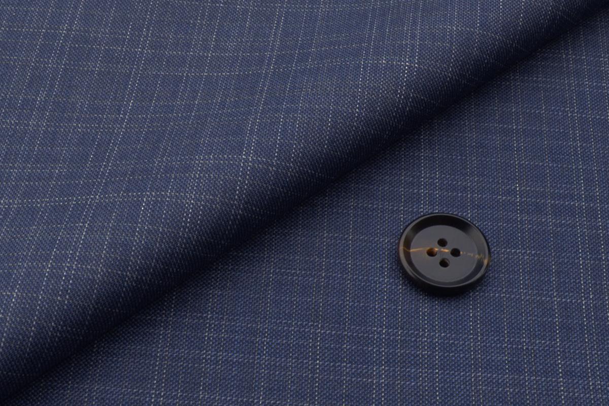 [オーダーパンツ]知的な印象のブルー×チェック柄が印象的!