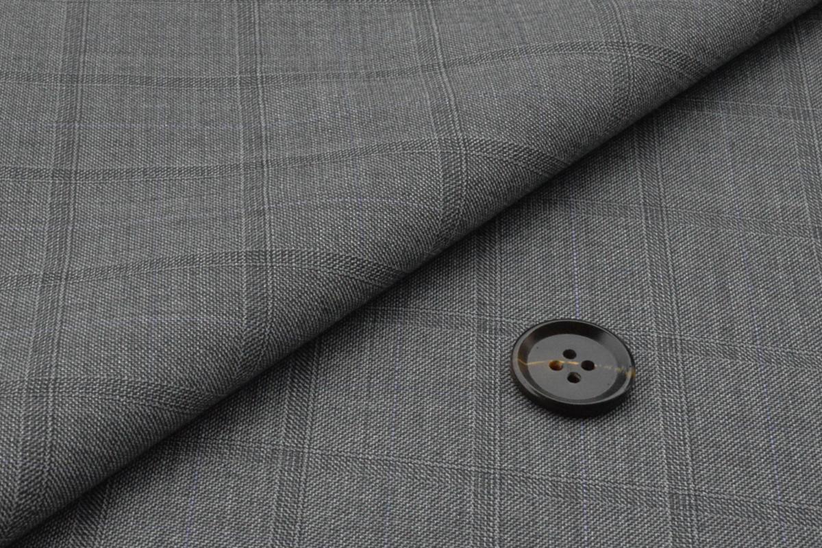 [オーダーレディーススーツ パンツセット]ライトグレー×チェック柄で大人の余裕を。