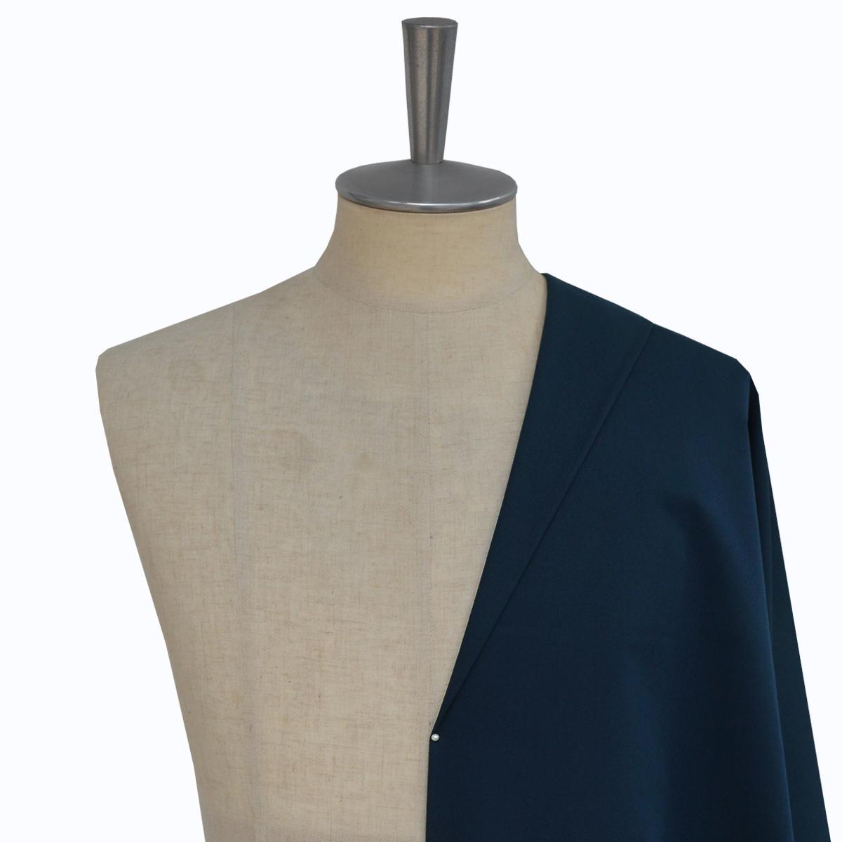 [オーダースーツ]コットン100%ネイビー、幅広く活躍できる一着に。