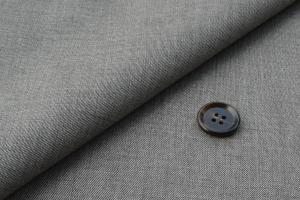 [オーダーレディーススーツ スカートセット]コットン100%のデニム調ライトグレーでお洒落を!
