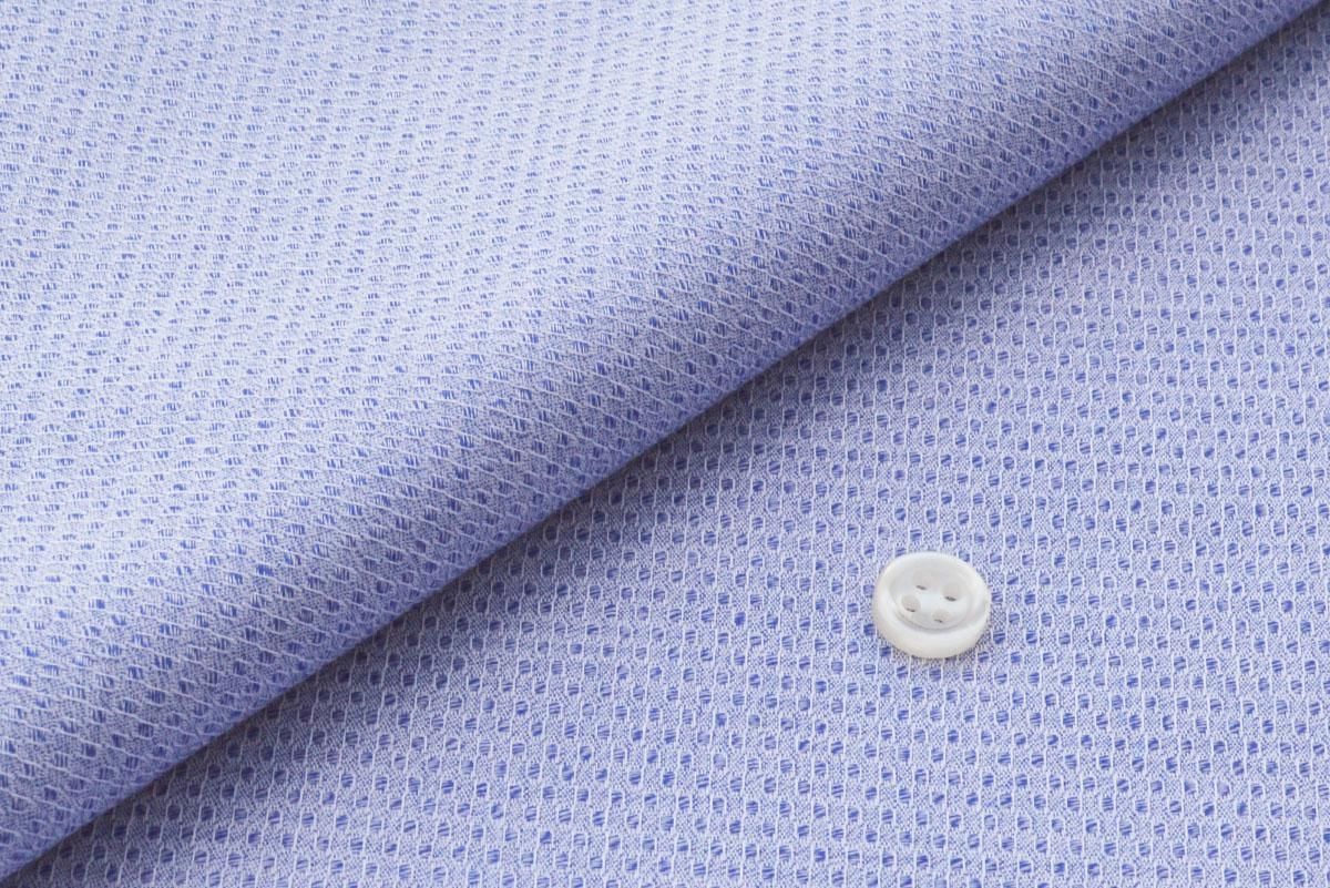 [オーダーシャツ]特徴的な織柄×爽やかな印象のブルー