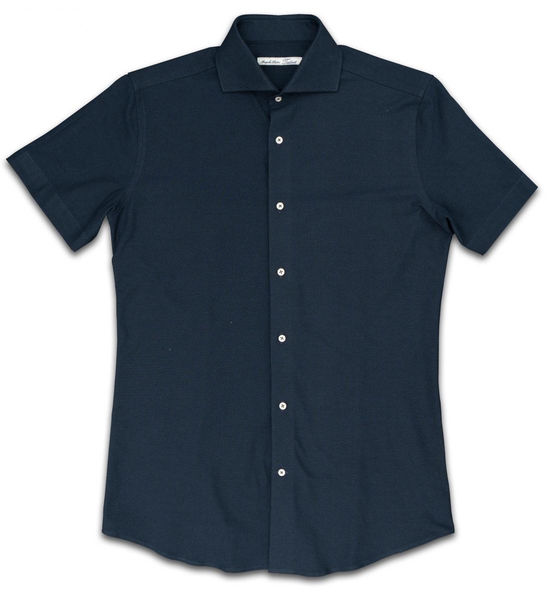 [オーダーシャツ]深みのあるネイビーが印象的な一枚