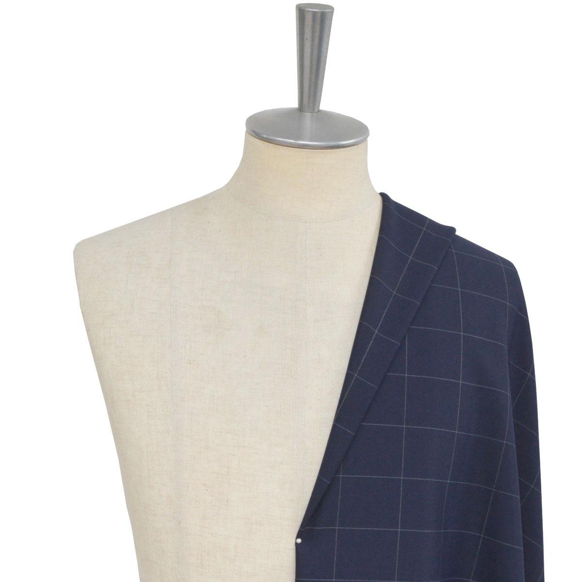 [オーダースーツ]ストレッチスーツで快適に!幅広チェック柄で存在感を!