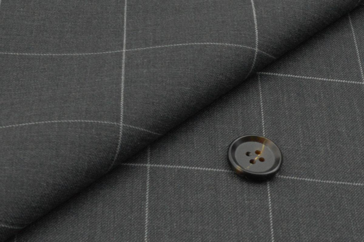 [オーダーレディーススーツ パンツセット]幅広チェックでお洒落を、好感度もアップ!