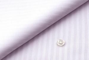 [オーダーシャツ]爽やかピンクのヘリンボーンで上品に!