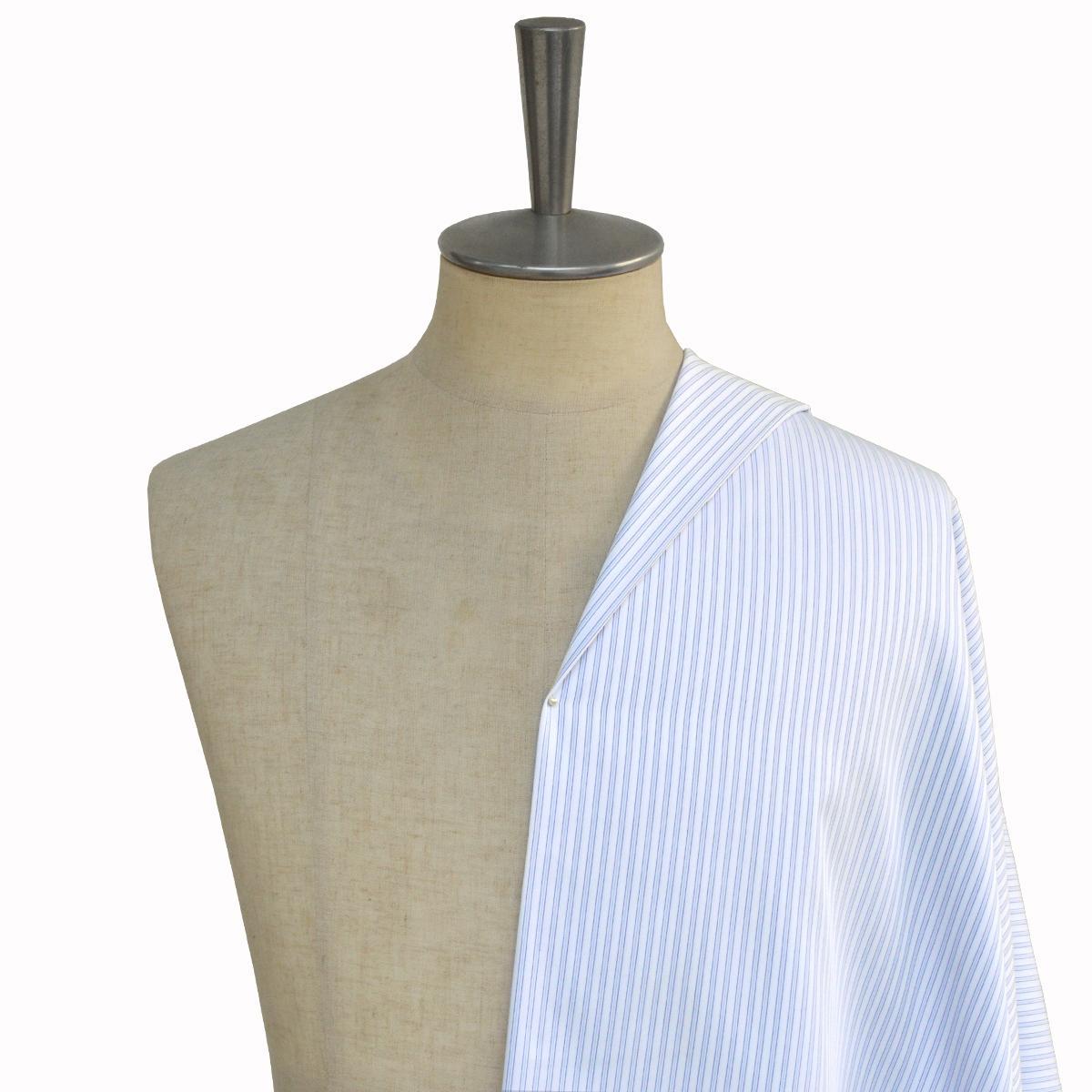 [オーダーシャツ]形態安定シャツの定番、ブルーストライプシャツ!