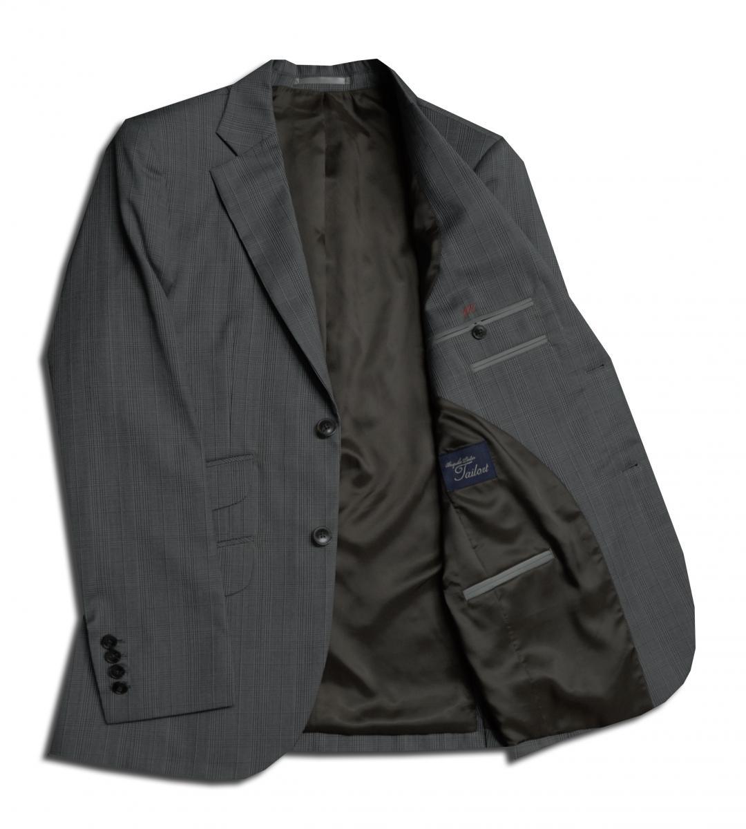 [オーダースーツ]落ち着いたチェック柄が印象的な一着