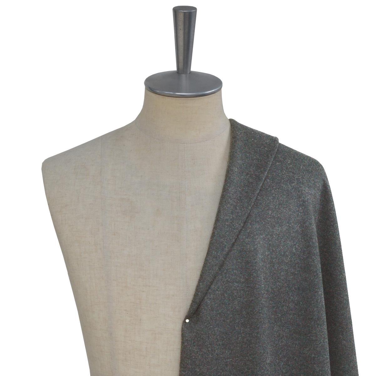 [オーダーコート]起毛感のあるグレーで、冬も暖かく