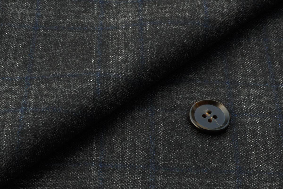 [オーダーレディースジャケット]グレー×ブルーチェックで個性ある風合いを