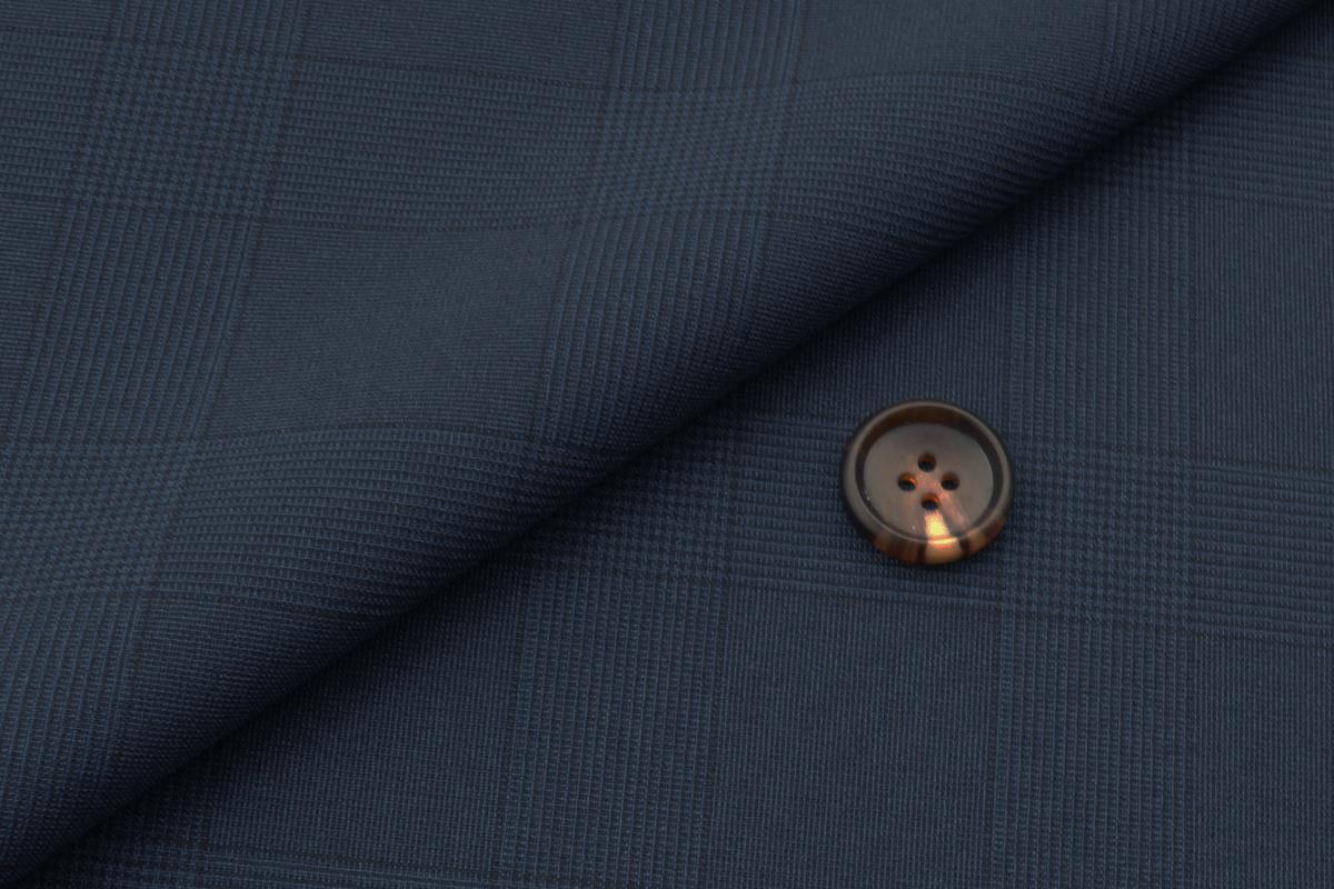[オーダースーツ]グレンチェック柄で、いつものネイビーをお洒落に。
