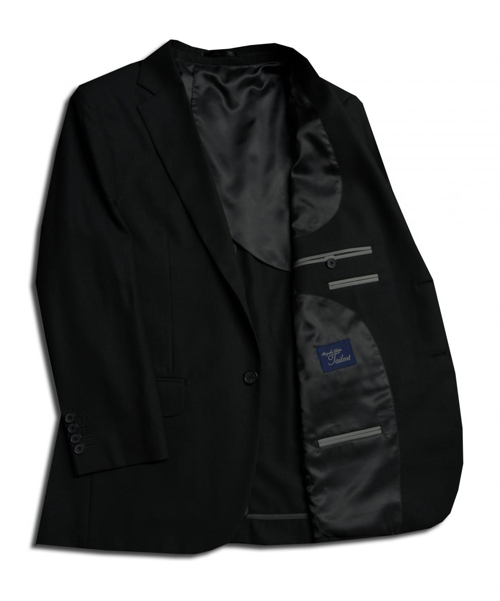 [オーダーレディーススーツ スカートセット]【夏の強い味方クールマックス】万能ブラックで使い勝手も抜群