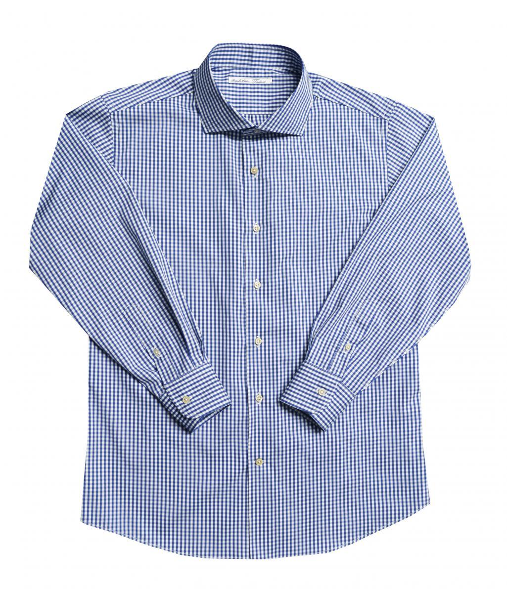 [オーダーシャツ]爽やかな印象のネイビーチェックで好感度アップ!
