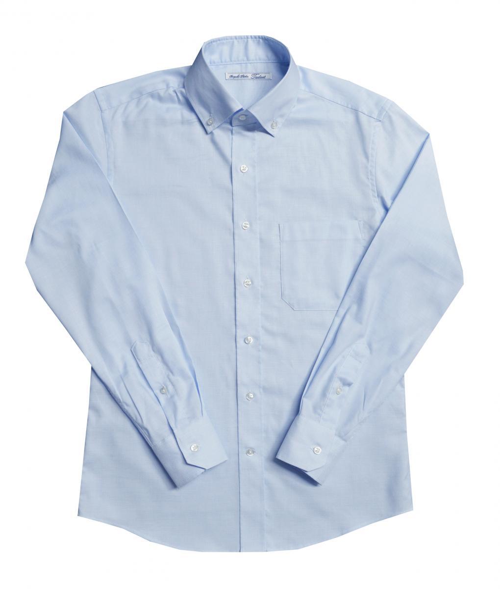 [オーダーシャツ]清涼感あふれるサックスブルーで好印象