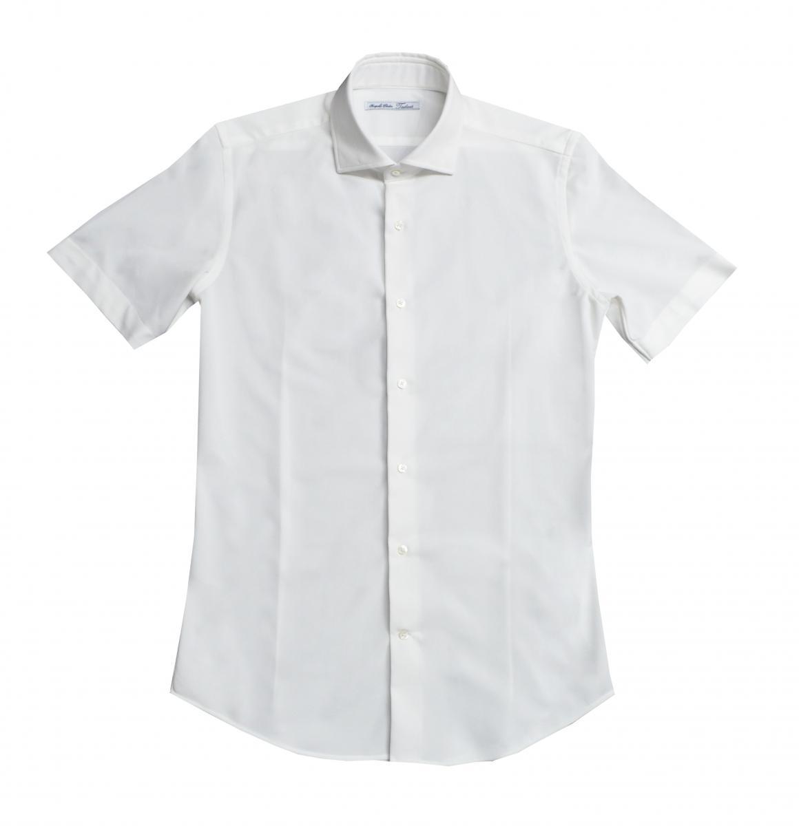 [オーダーシャツ]ホワイトニット素材で快適なビジネスライフを