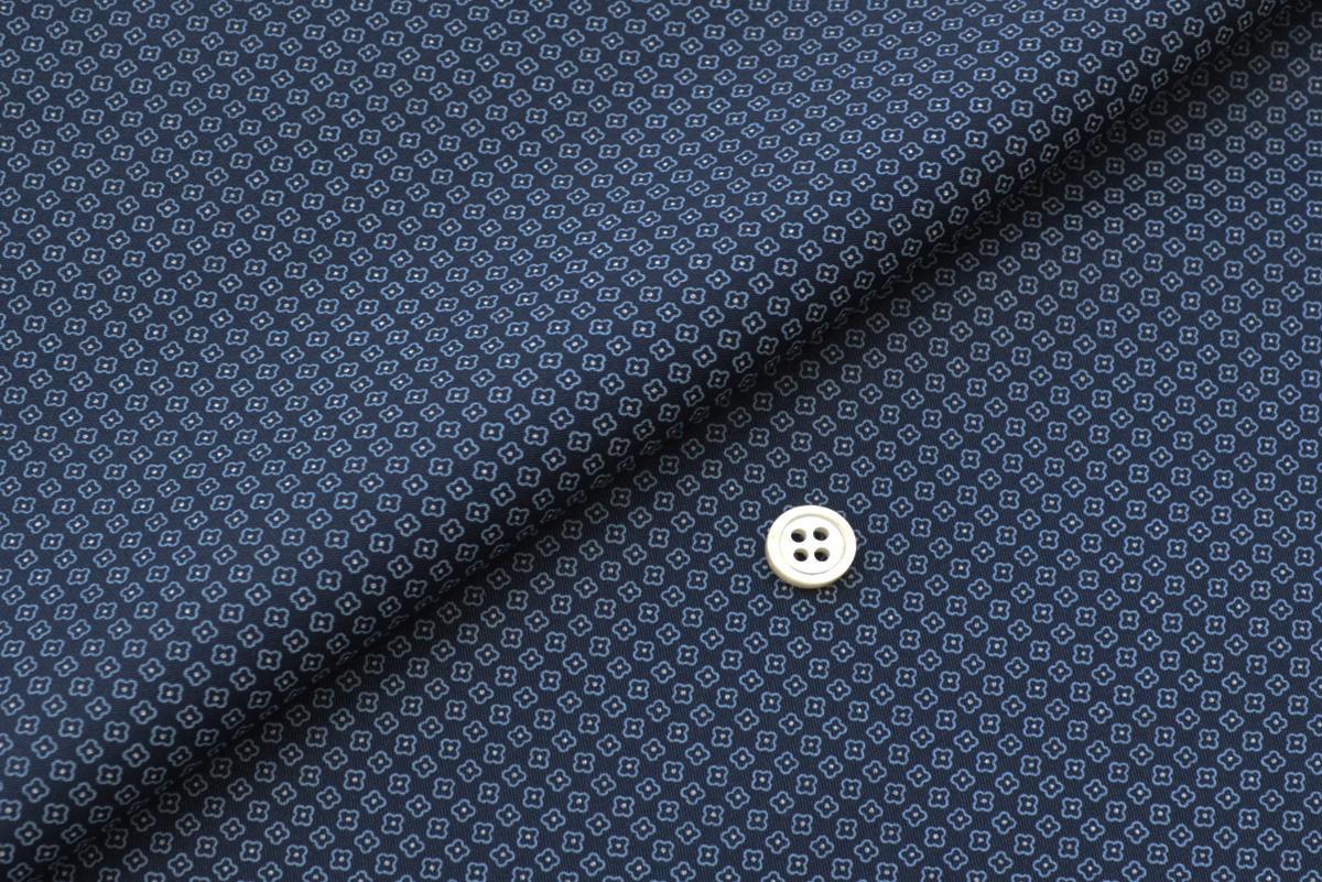 [オーダーシャツ]高級感のあるジオトメリック柄