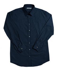 [オーダーシャツ]レトロモダンな柄はグレースーツとの相性ぴったり