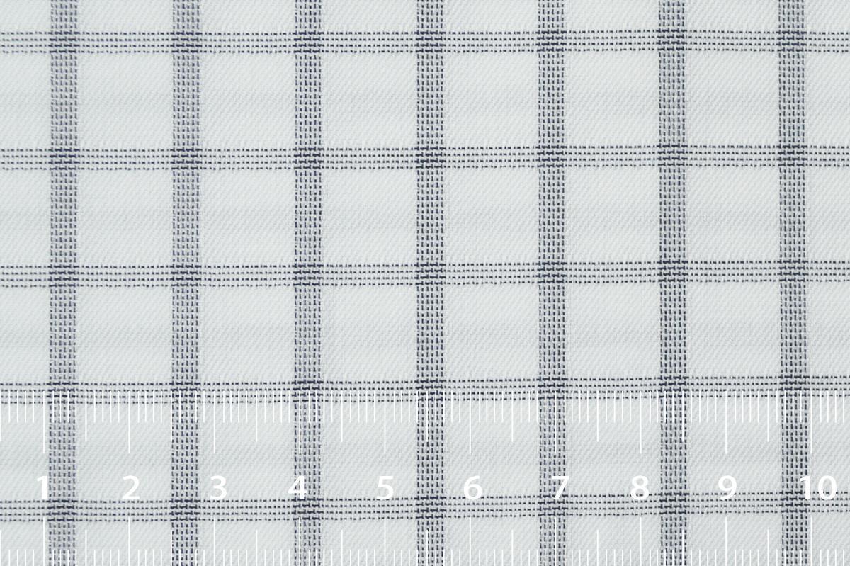 [オーダーシャツ]【形態安定】白×チェック柄で存在感を