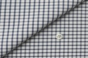 [オーダーシャツ]【形態安定】上品な印象のネイビーチェック