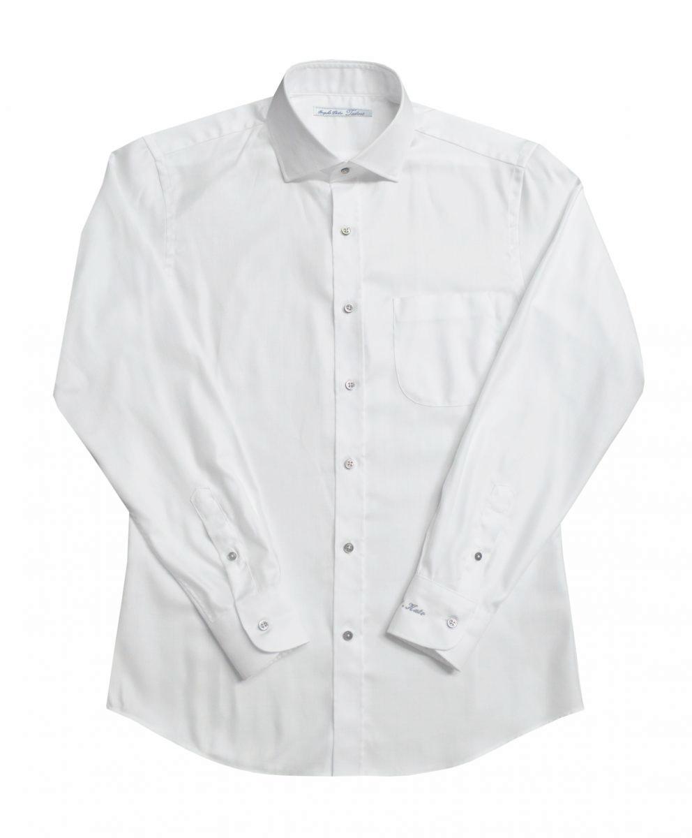 [オーダーシャツ]【形態安定】ヘリンボーン生地でクラシックにお洒落を